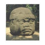 México, Villahermosa, cabeza gigante de Olmec, La  Bloc De Papel