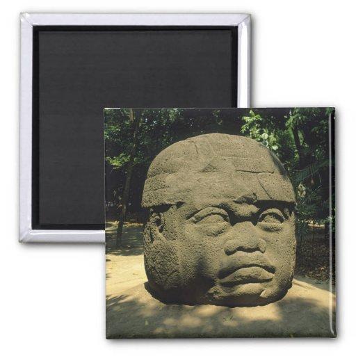 México, Villahermosa, cabeza gigante de Olmec, La  Imán De Frigorífico