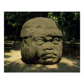 México, Villahermosa, cabeza gigante de Olmec, La  Poster
