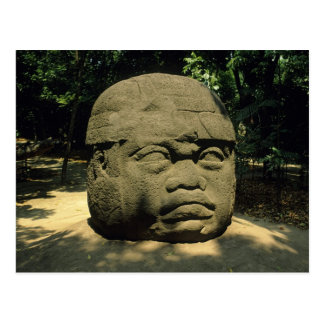 Mexico, Villahermosa, giant Olmec head, La Venta Postcard