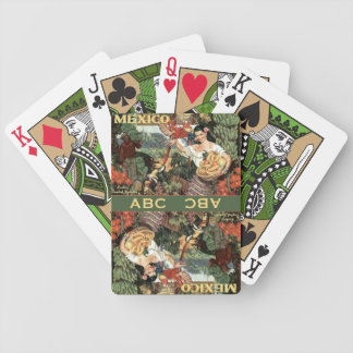 Mexico vintage custom monogram playing cards