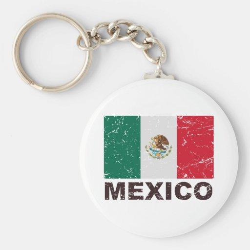 Mexico Vintage Flag Keychain