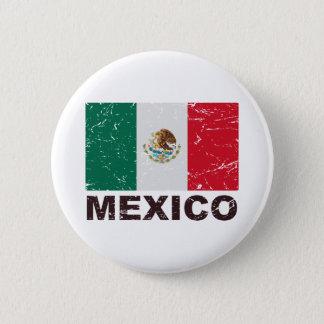 Mexico Vintage Flag Pinback Button