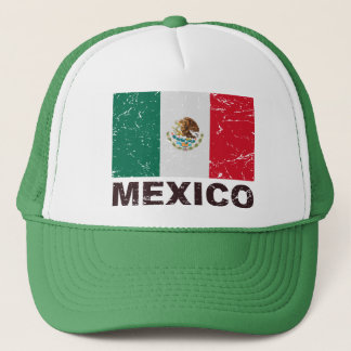 Mexico Vintage Flag Trucker Hat