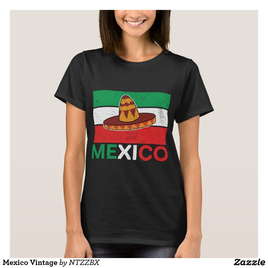 Mexico Vintage T-Shirt - Best Selling Long-Sleeve Street Fashion Shirt Designs