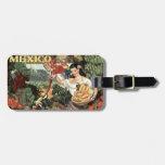 Mexico Vintage Travel custom luggage tag