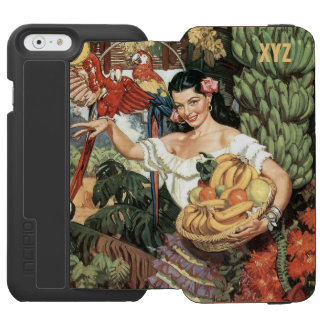 Mexico vintage travel custom monogram wallet cases