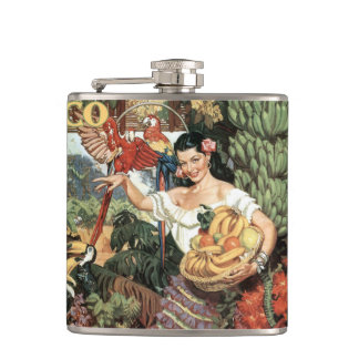 Mexico vintage travel flask