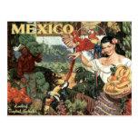 Mexico vintage travel postcard postcard