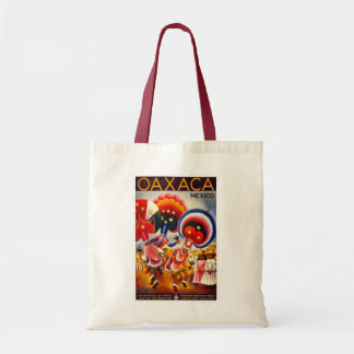 """Mexico"" Vintage Travel Poster Budget Tote Bag"
