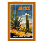 """Mexico"" Vintage Travel Poster Card"