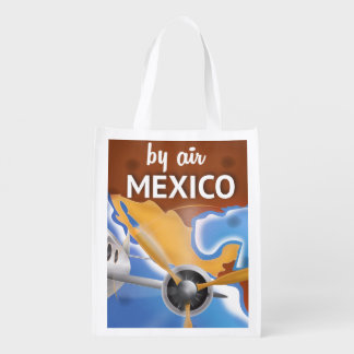 Mexico Vintage Travel poster Grocery Bag