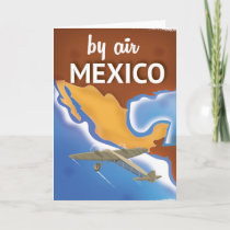 Mexico Vintage Travel poster Holiday Card