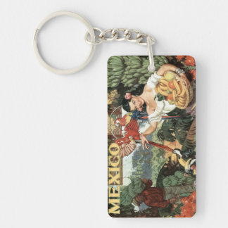 Mexico Vintage Travel Poster Keychain