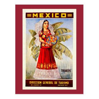 Mexico Vintage Travel Poster Postcard