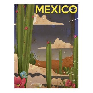 Mexico Vintage travel poster. Postcard