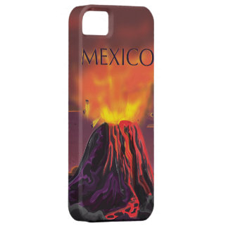 Mexico Volcano Travel Poster iPhone SE/5/5s Case