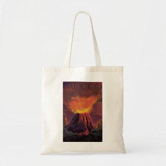 Mexico Volcano Travel Poster Tote Bag