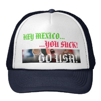 Mexico vs. US Soccer Rivalry Hat - Customized