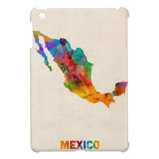 Mexico Watercolor Map iPad Mini Covers