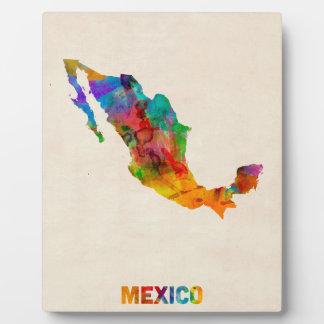 Mexico Watercolor Map Plaque