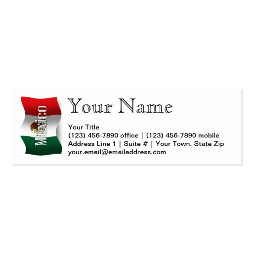 Mexico Waving Flag Business Card