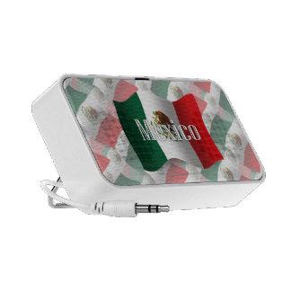 Mexico Waving Flag iPod Speakers