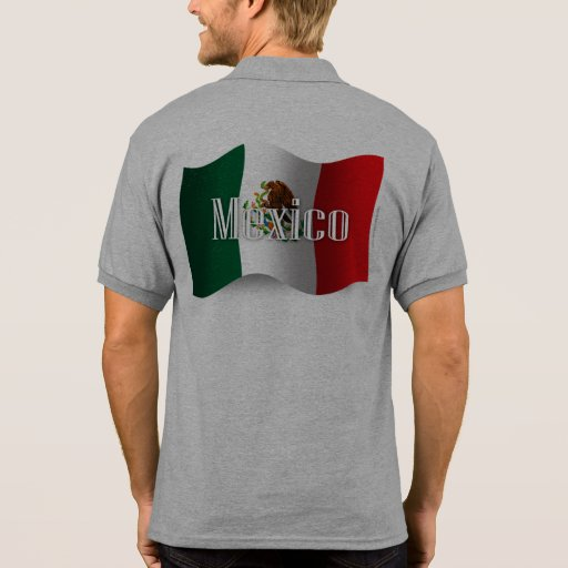 Mexico Waving Flag T-shirts