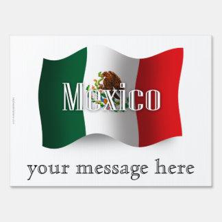 Mexico Waving Flag Yard Signs