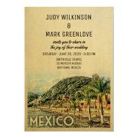 Mexico Wedding Invitation Vintage Mid-Century