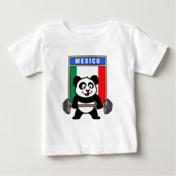 Mexican Weightlifting Panda Baby Fine Jersey T-Shirt