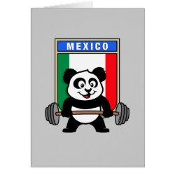 Mexican Weightlifting Panda Greeting Card