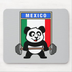Mousepad with Mexican Weightlifting Panda design