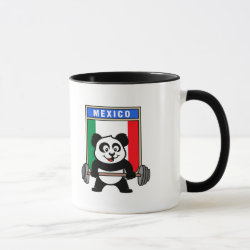 Combo Mug with Mexican Weightlifting Panda design