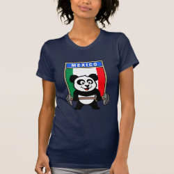 Women's American Apparel Fine Jersey Short Sleeve T-Shirt with Mexican Weightlifting Panda design