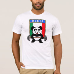 Men's Basic American Apparel T-Shirt with Mexican Weightlifting Panda design