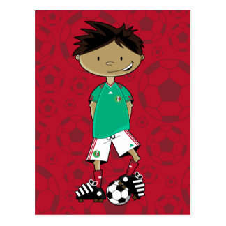 Mexico World Cup Soccer Boy Postcard