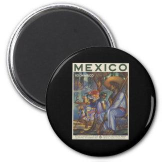 Mexico Xochimilco 2 Inch Round Magnet