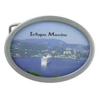 México y America Central Hebilla Cinturon Oval