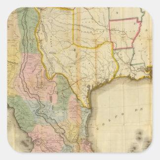 México y Estados Unidos Calcomanías Cuadradass