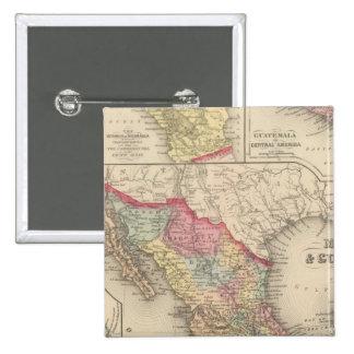 México y Guatemala 4 Pin Cuadrada 5 Cm