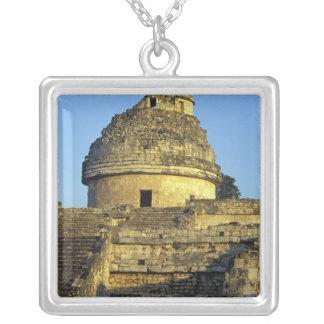 Mexico, Yucatan. Caracol: astronomical Square Pendant Necklace