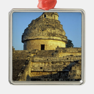 México, Yucatán. Caracol: astronómico Adorno Navideño Cuadrado De Metal