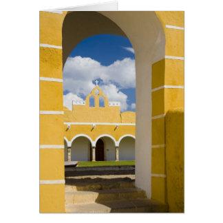 Mexico, Yucatan, Izamal. The Franciscan Convent 2 Greeting Cards