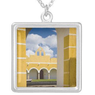 Mexico, Yucatan, Izamal. The Franciscan Convent 2 Custom Necklace