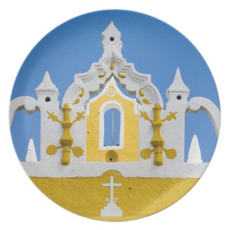 Mexico, Yucatan, Izamal. The Franciscan Convent 3 Dinner Plate