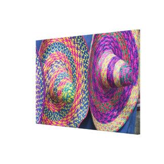 Mexico, Yucatan, Merida, traditional woven Canvas Print