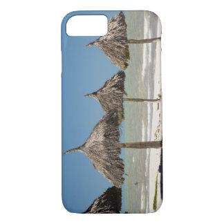 Mexico, Yucatan Peninsula, Progreso. Thatch iPhone 8/7 Case
