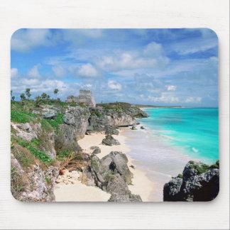 Mexico, Yucatan, Peninsula, Ruins Of Tulum, Mayan Mouse Pad