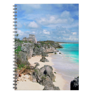 Mexico, Yucatan, Peninsula, Ruins Of Tulum, Mayan Spiral Notebook